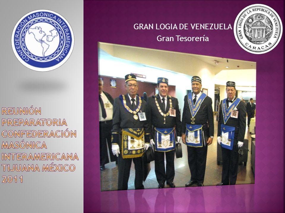 GRAN LOGIA DE VENEZUELA Gran Tesorería