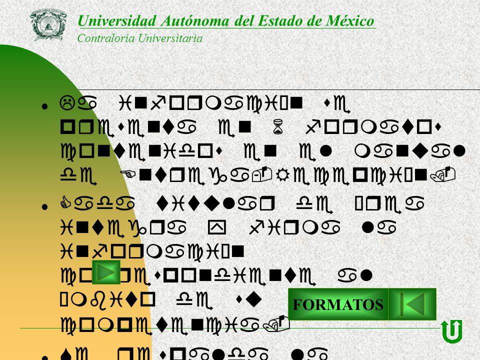 La información se presenta en 6 formatos contenidos en el manual de Entrega-Recepción. Cada titular de área integra y firma la información correspondi