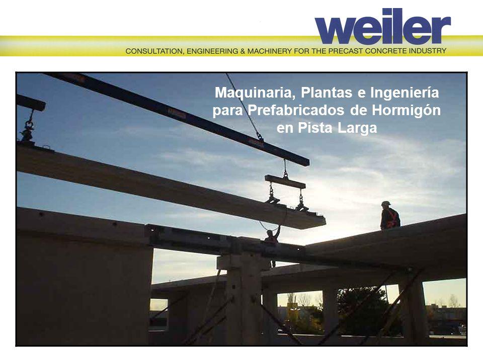 Maquinaria, Plantas e Ingeniería para Prefabricados de Hormigón en Pista Larga