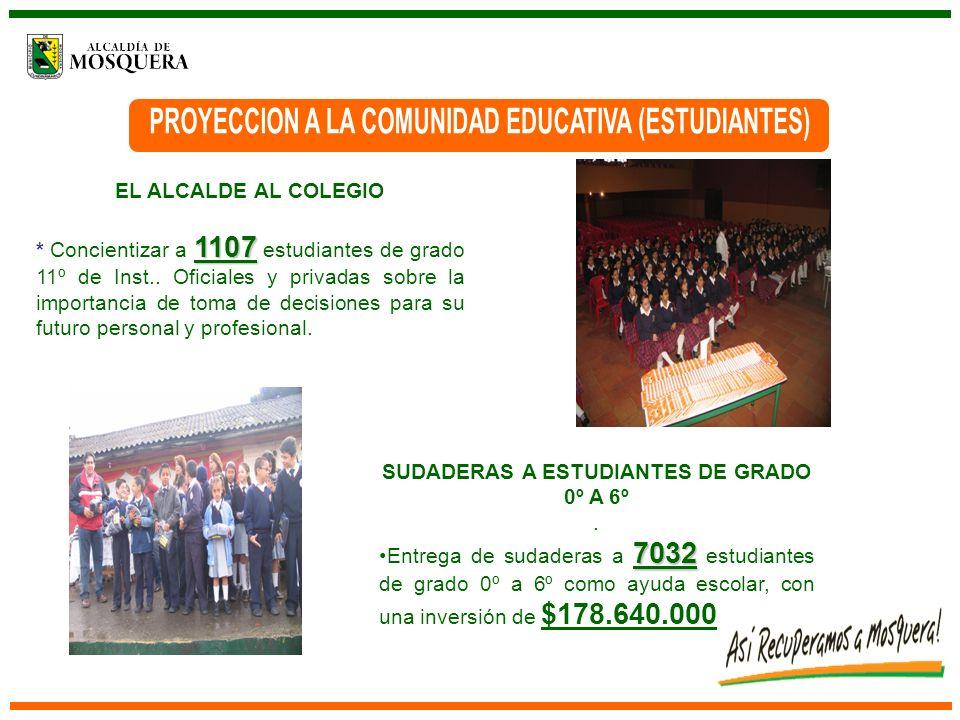 MEJORAMIENTO PRUEBAS DE ESTADO Y PRUEBAS SABER Lograr que los estudiantes de grado 11º mejoren el puntaje en las pruebas de estado para incrementar la calidad de la educación en el municipio.