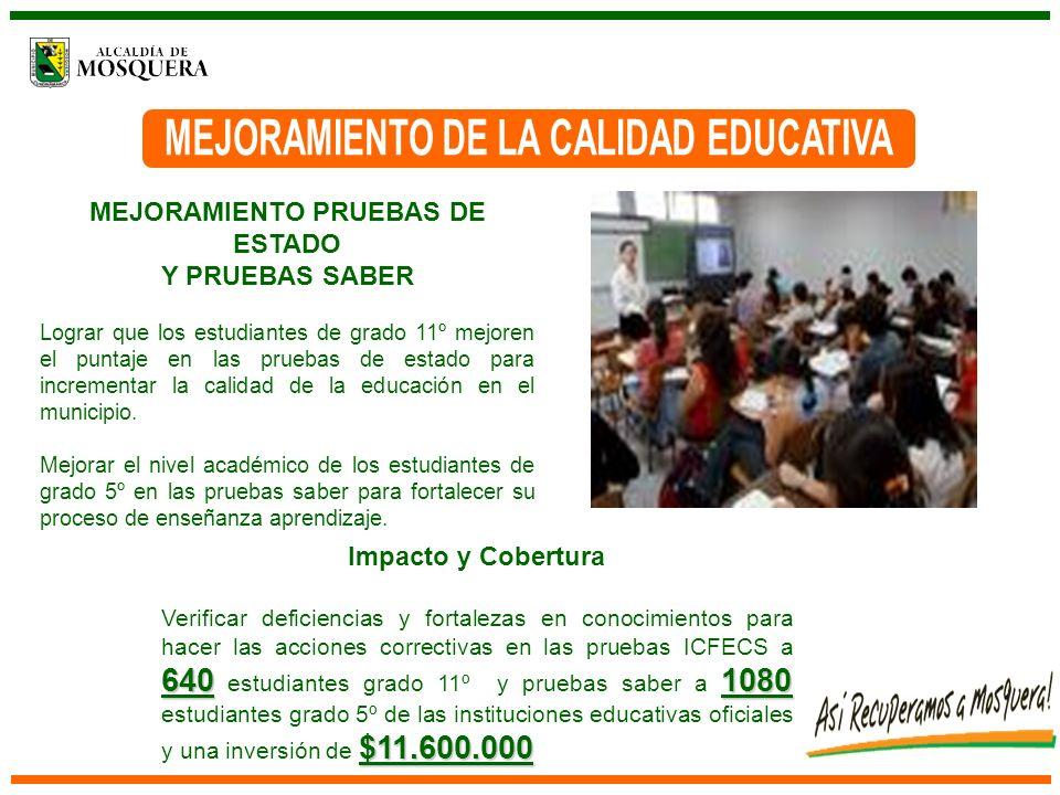 FONDO DE FOMENTO EDUCATIVO ICETEX-MUNICIPIO DE MOSQUERA Créditos Condonables a estudiantes que cursan Educación superior, residentes en el Municipio de Mosquera.