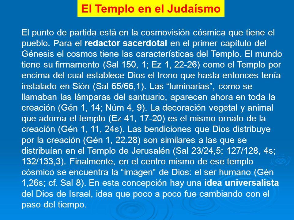 El Templo en el Judaísmo El punto de partida está en la cosmovisión cósmica que tiene el pueblo.