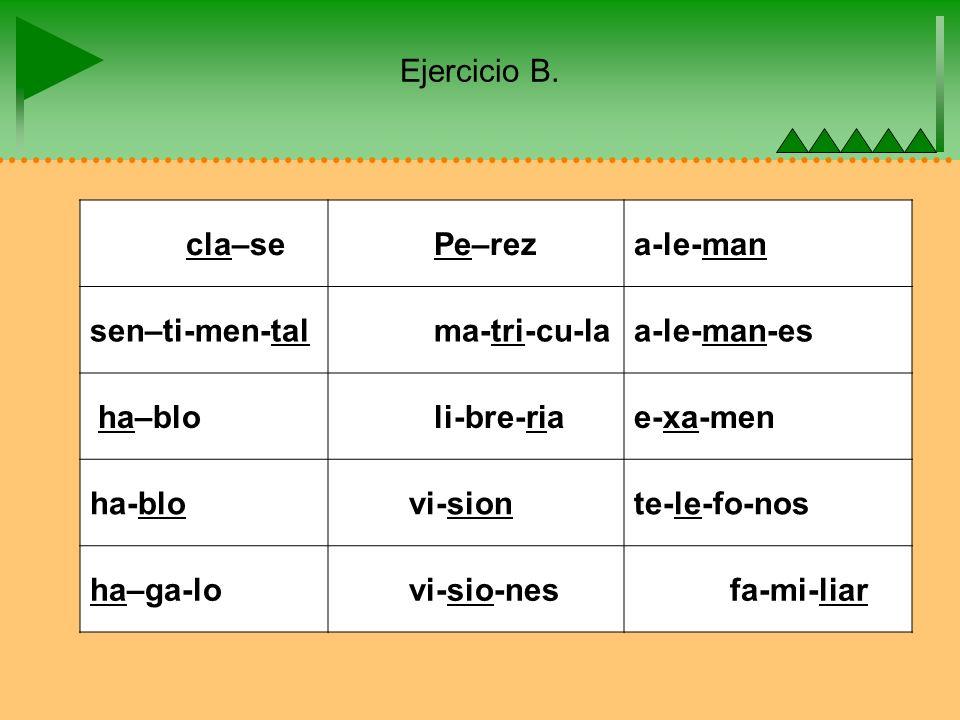 Ejercicio B.