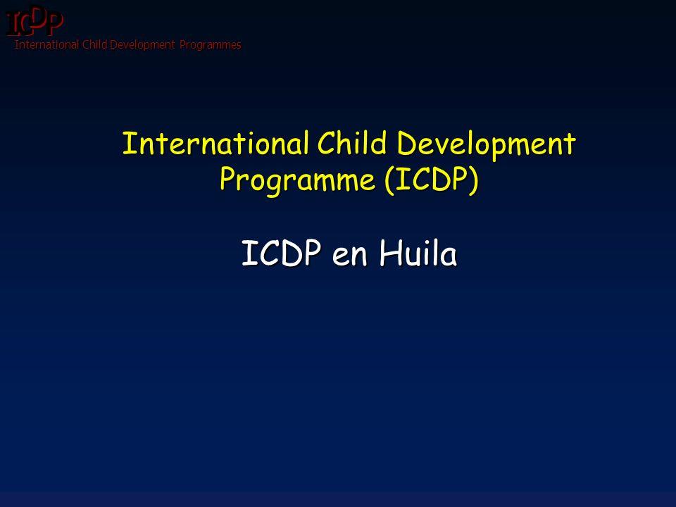 International Child Development Programmes AVANCES Y RESULTADOS También Soy Persona Junio de 2009