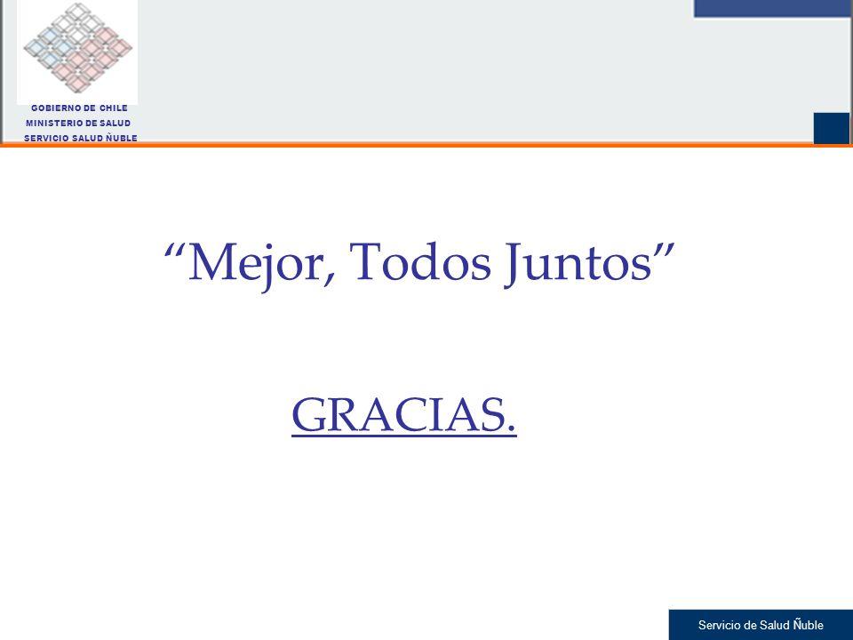 Servicio de Salud Ñuble Mejor, Todos Juntos GRACIAS. GOBIERNO DE CHILE MINISTERIO DE SALUD SERVICIO SALUD ÑUBLE