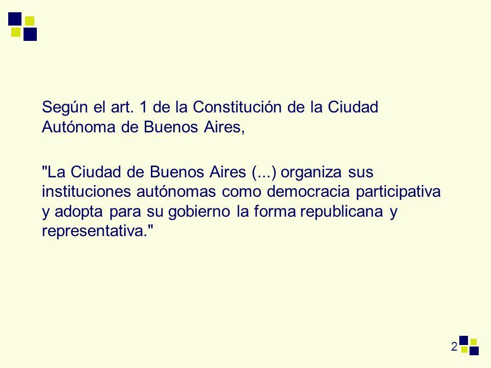 2 Según el art. 1 de la Constitución de la Ciudad Autónoma de Buenos Aires,
