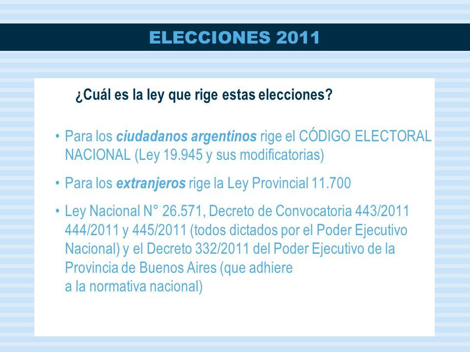 ELECCIONES 2011 Votos válidos