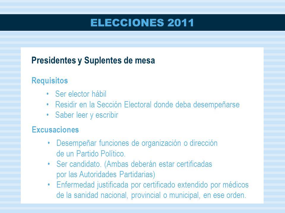 ELECCIONES 2011 FIRME LOS SOBRES DE A UNO POR VEZ.