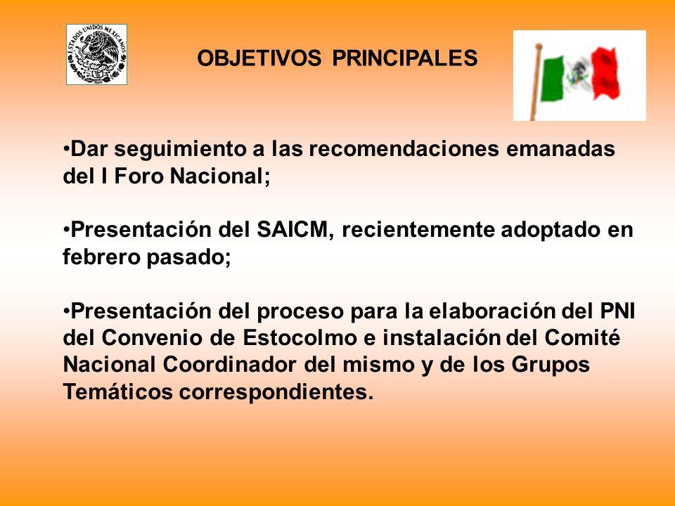 A través del programa de inicio rápido del SAICM y del CNC del PNI se inicia un proceso de consulta multisectorial.