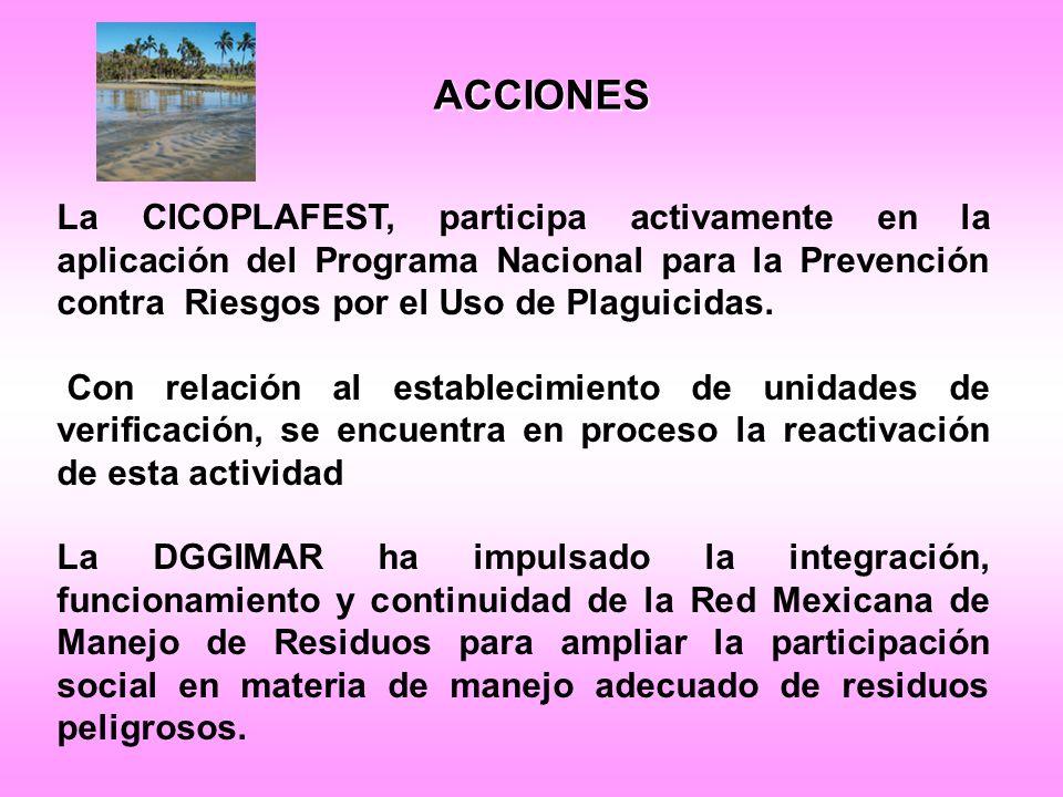 La CICOPLAFEST, participa activamente en la aplicación del Programa Nacional para la Prevención contra Riesgos por el Uso de Plaguicidas.