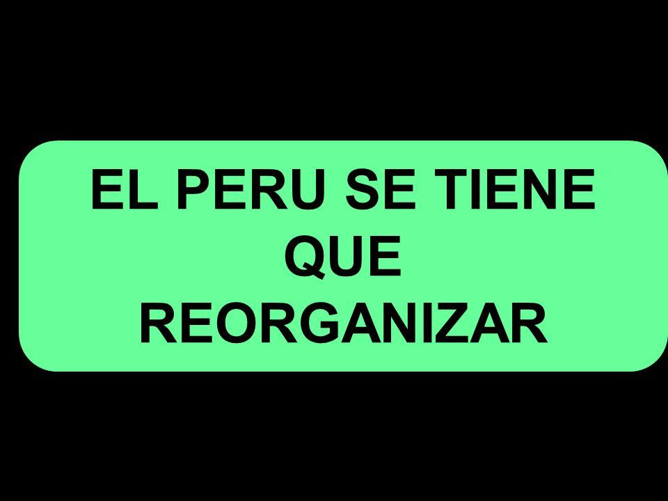 EL PERU SE TIENE QUE REORGANIZAR