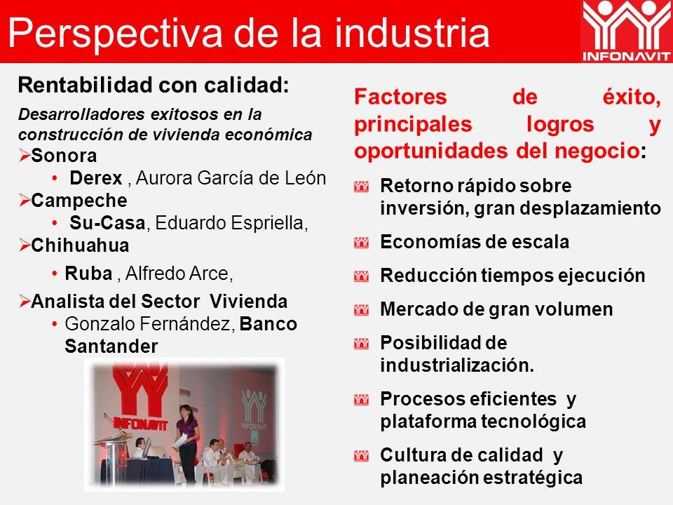 Perspectiva de la industria Rentabilidad con calidad: Desarrolladores exitosos en la construcción de vivienda económica Sonora Derex, Aurora García de