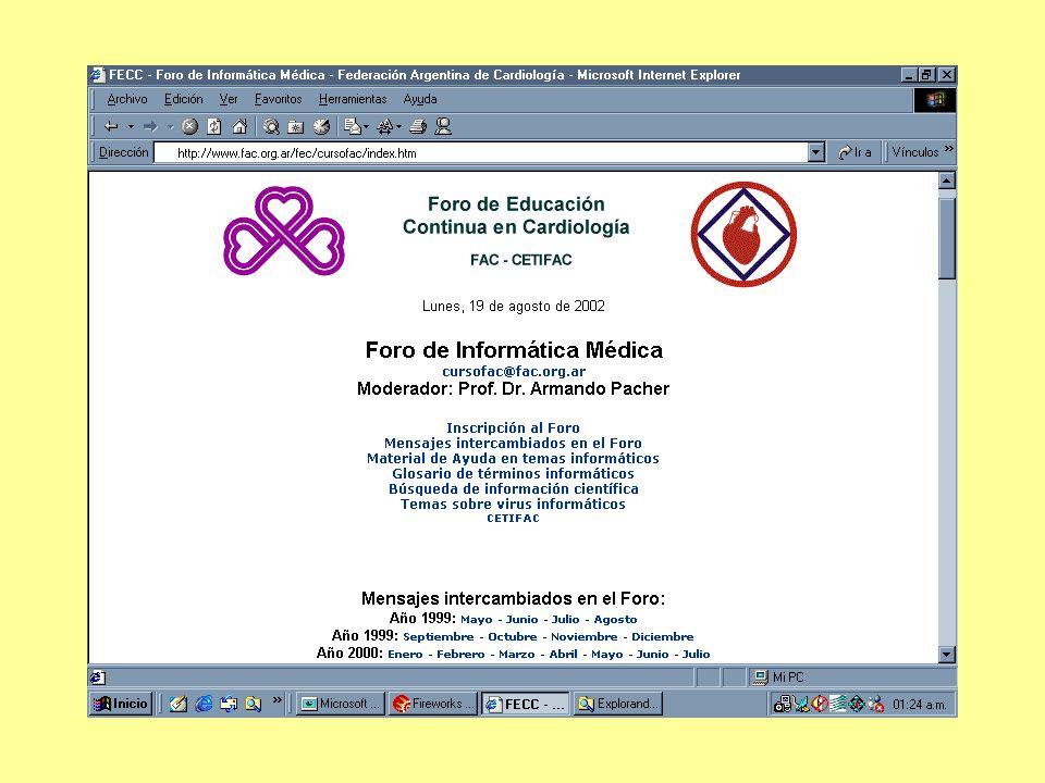 Congresos Internacionales de Cardiología en Internet Congresos Virtuales en Cardiología: PCVC – SCVC - TCVC Inscriptos Países de origen de los inscriptos