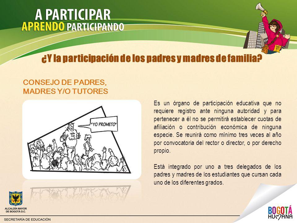 ¿Y la participación de los padres y madres de familia? Es un órgano de participación educativa que no requiere registro ante ninguna autoridad y para