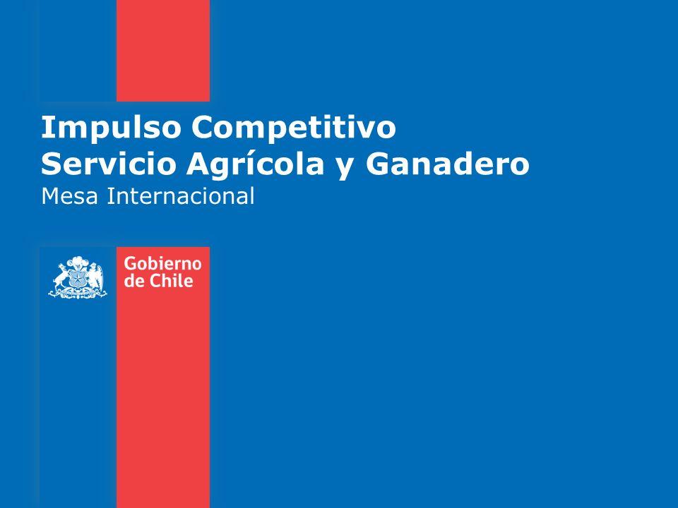 MESA INTERNACIONAL 60 MEDIDAS 49 Medidas Impulso Competitivo 11 Medidas PCE 58 Medidas tratadas en las mesas Medidas nuevas incorporadas por los gremios en las mesas Gobierno de Chile   Ministerio de Agricultura