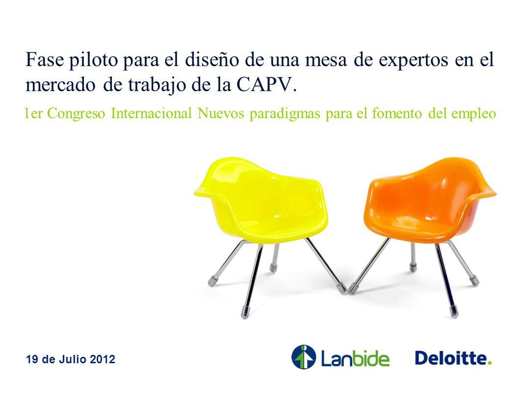Fase piloto para el diseño de una mesa de expertos en el mercado de trabajo de la CAPV.