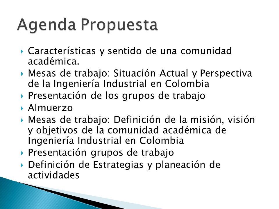 Características y sentido de una comunidad académica.