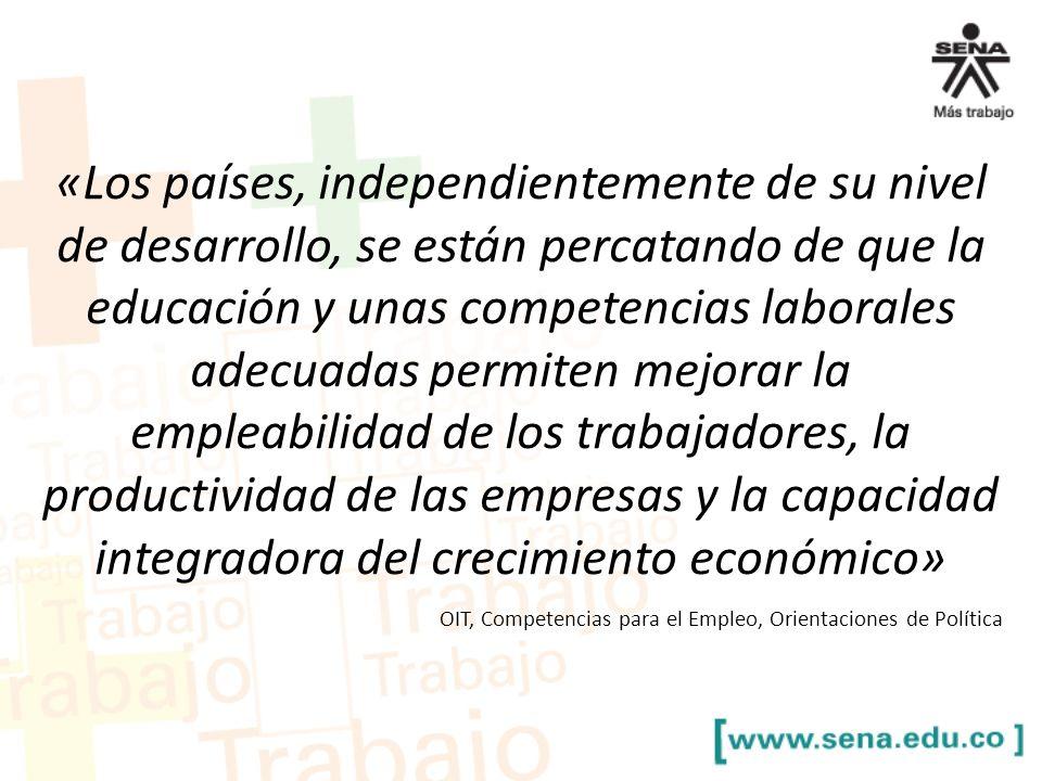 OIT, Competencias para el Empleo, Orientaciones de Política «Los países, independientemente de su nivel de desarrollo, se están percatando de que la e