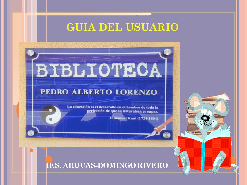 GUIA DEL USUARIO IES. ARUCAS-DOMINGO RIVERO