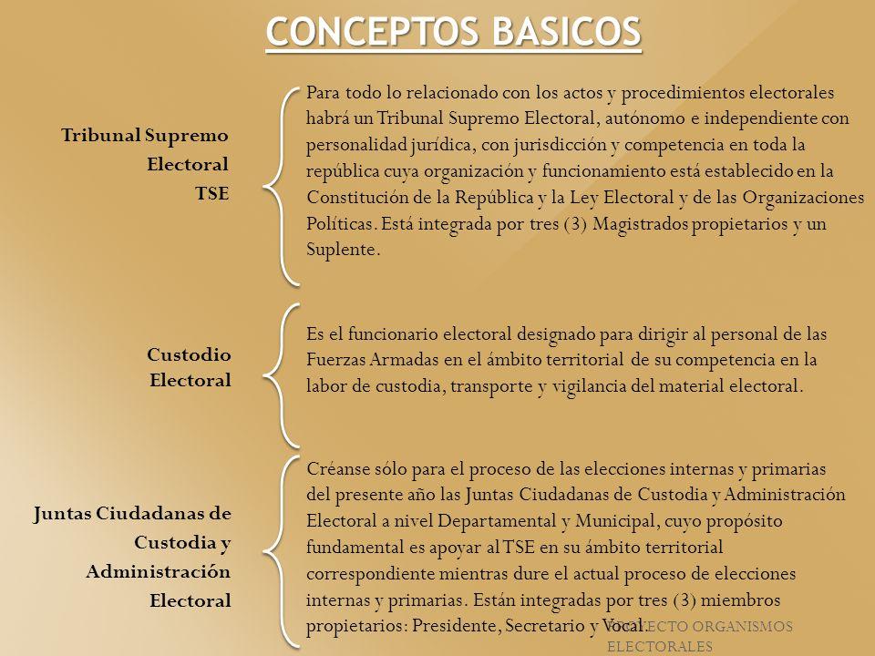 Para todo lo relacionado con los actos y procedimientos electorales habrá un Tribunal Supremo Electoral, autónomo e independiente con personalidad jur