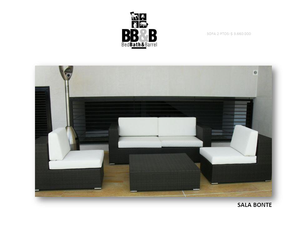 SALA BONTE SOFA 2 PTOS: $ 3.660.000