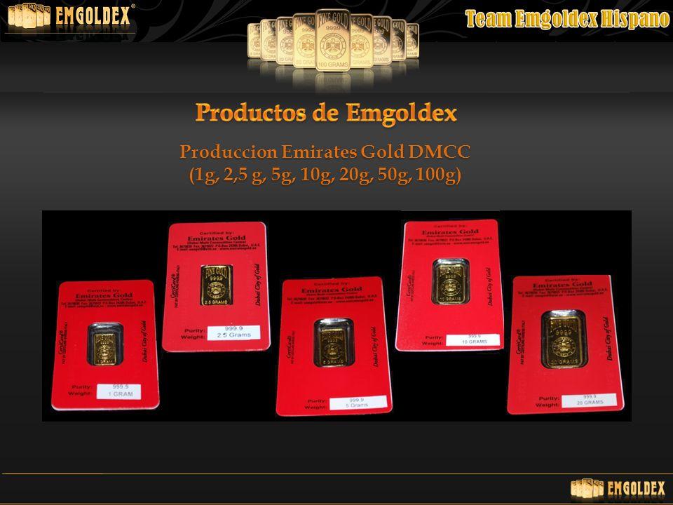 Produccion Emirates Gold DMCC (1g, 2,5 g, 5g, 10g, 20g, 50g, 100g)
