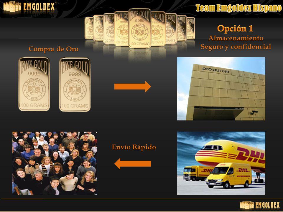 Almacenamiento Seguro y confidencial Compra de Oro Envío Rápido