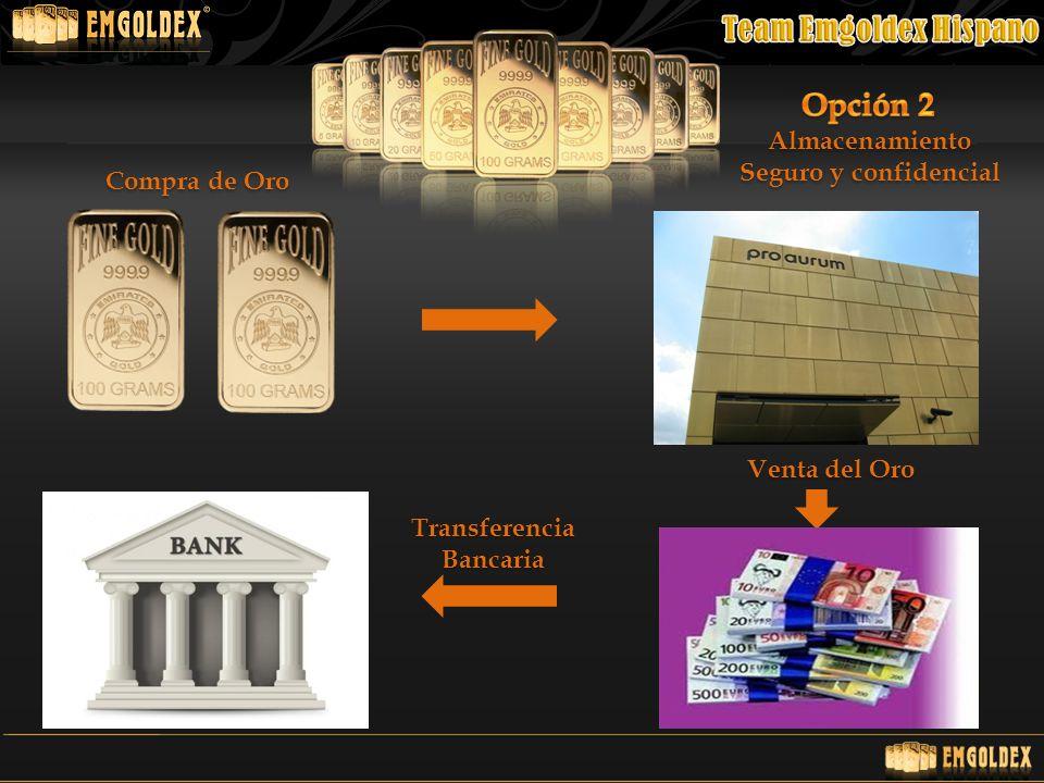Almacenamiento Seguro y confidencial Compra de Oro TransferenciaBancaria Venta del Oro