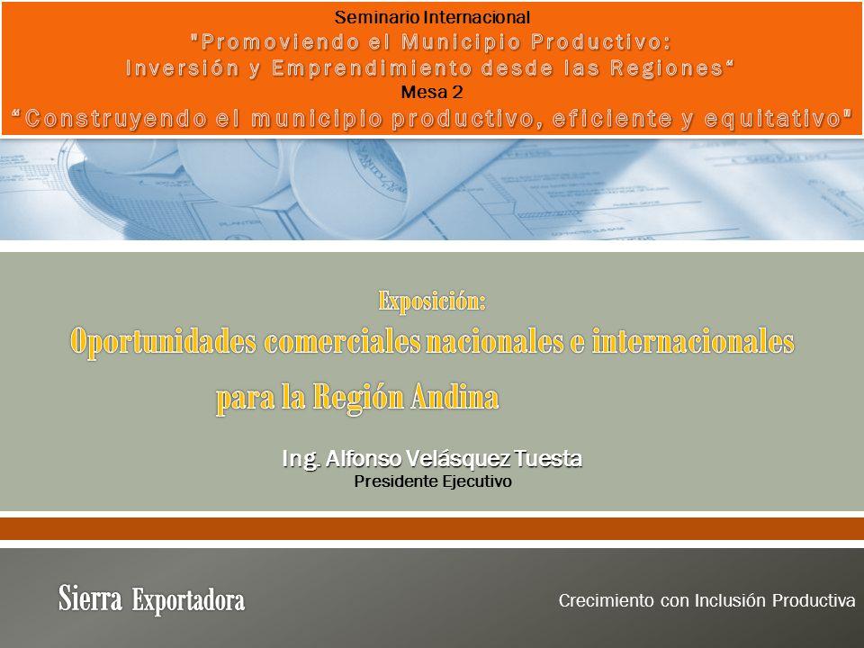 Ing. Alfonso Velásquez Tuesta Presidente Ejecutivo Crecimiento con Inclusión Productiva