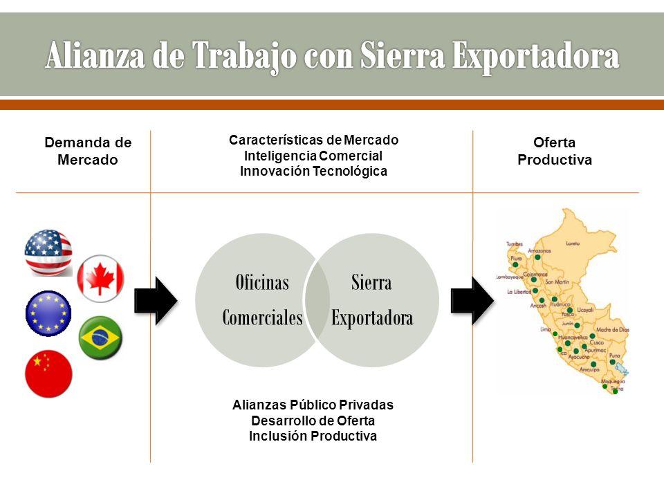 Demanda de Mercado Oficinas Comerciales Sierra Exportadora Oferta Productiva Características de Mercado Inteligencia Comercial Innovación Tecnológica