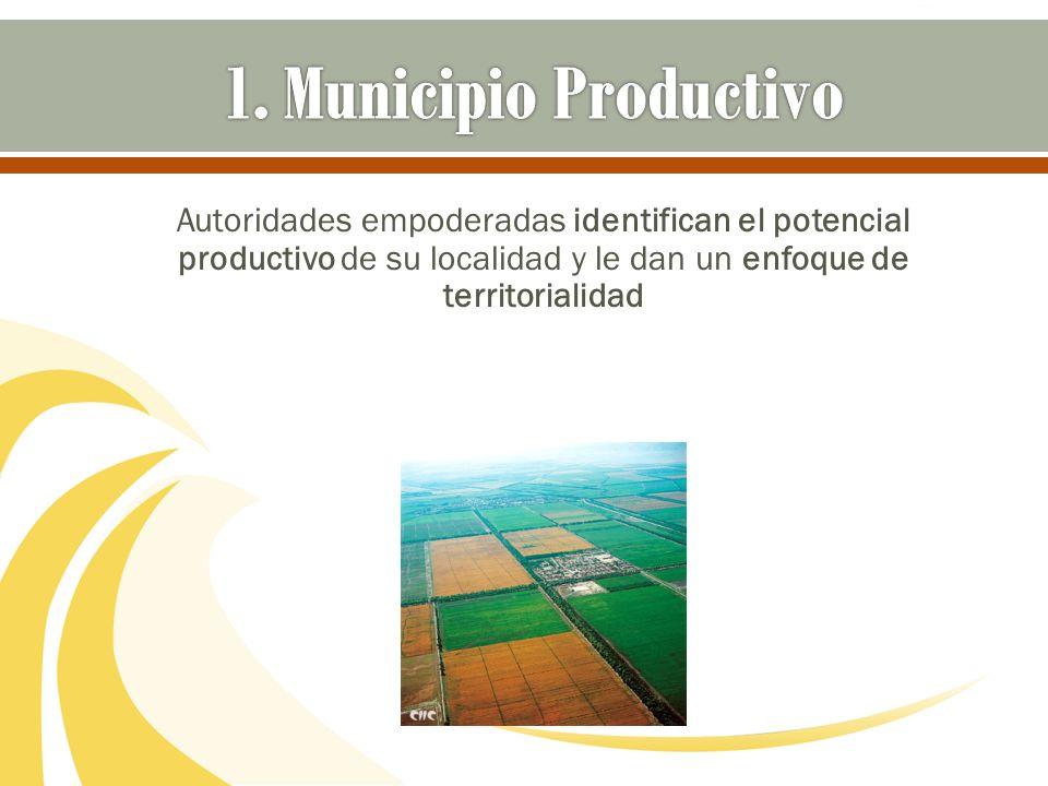 Autoridades empoderadas identifican el potencial productivo de su localidad y le dan un enfoque de territorialidad