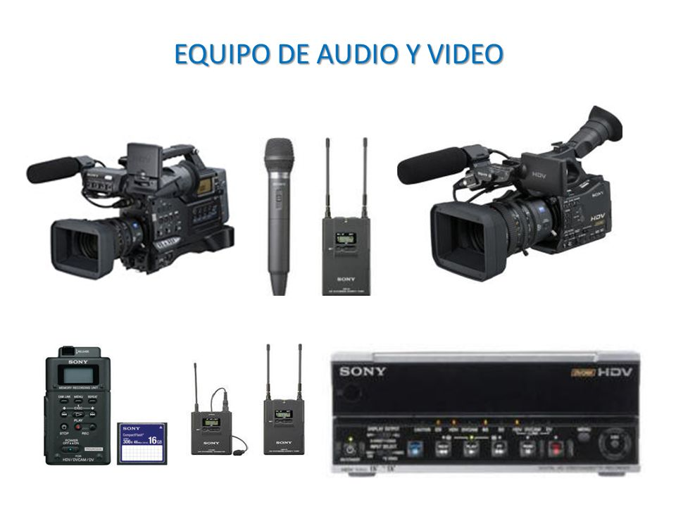 EQUIPO DE AUDIO Y VIDEO