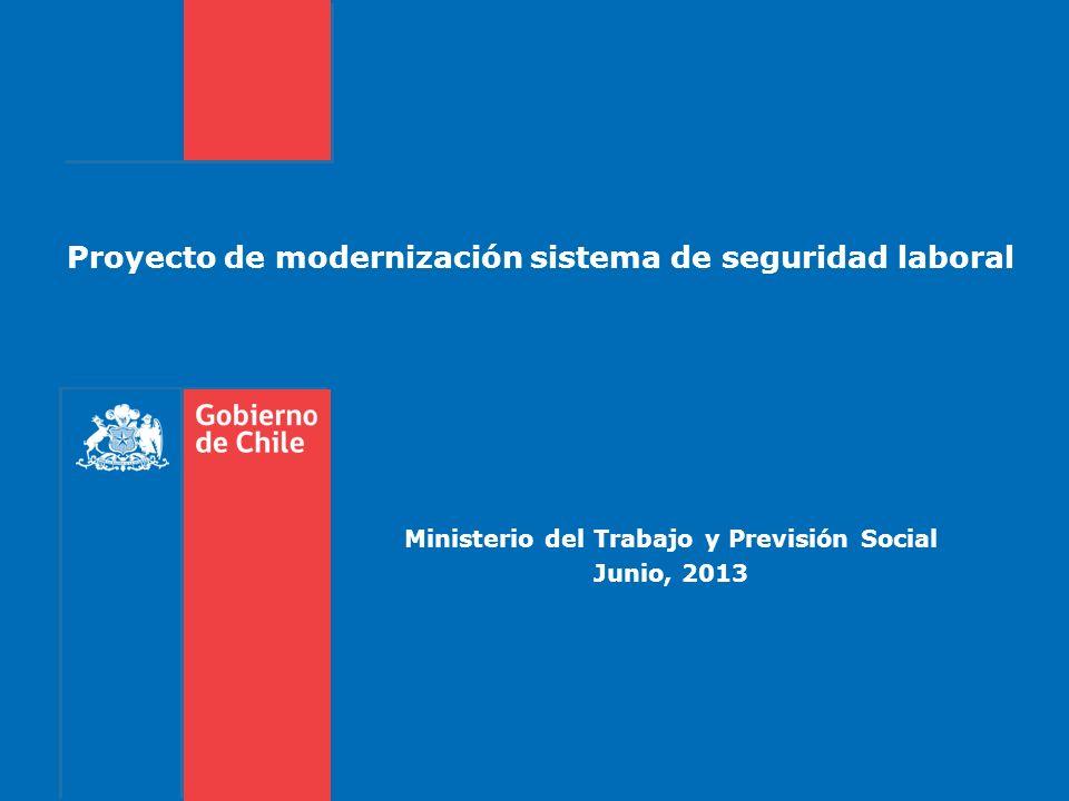 Proyecto de modernización sistema de seguridad laboral Ministerio del Trabajo y Previsión Social Junio, 2013
