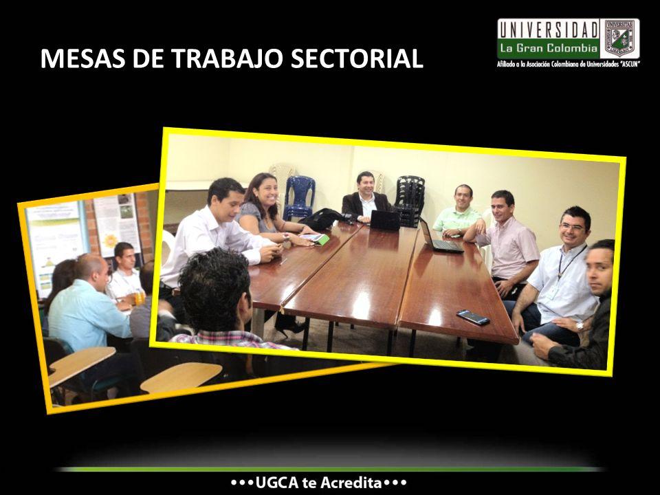 MESAS DE TRABAJO SECTORIAL