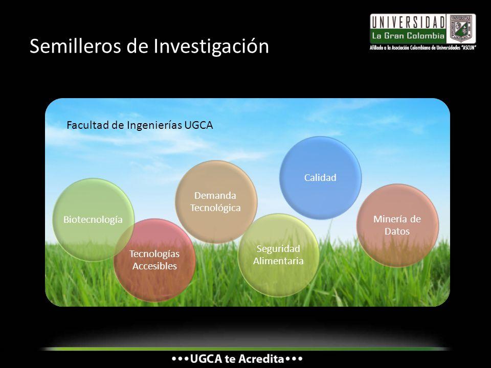 Semilleros de Investigación Demanda Tecnológica Tecnologías Accesibles Biotecnología Seguridad Alimentaria Calidad Minería de Datos Facultad de Ingeni
