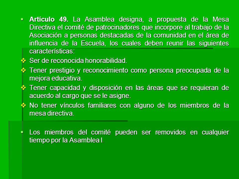 Artículo 49.