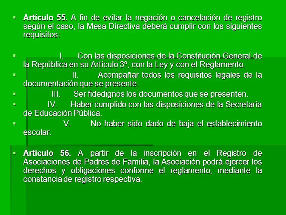 Artículo 55.