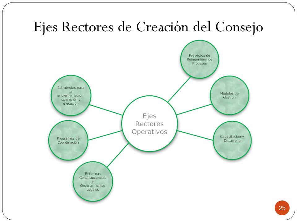 Ejes Rectores de Creación del Consejo 25