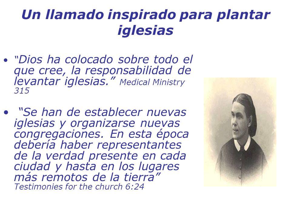 Un llamado inspirado para plantar iglesias Dios ha colocado sobre todo el que cree, la responsabilidad de levantar iglesias. Medical Ministry 315 Se h
