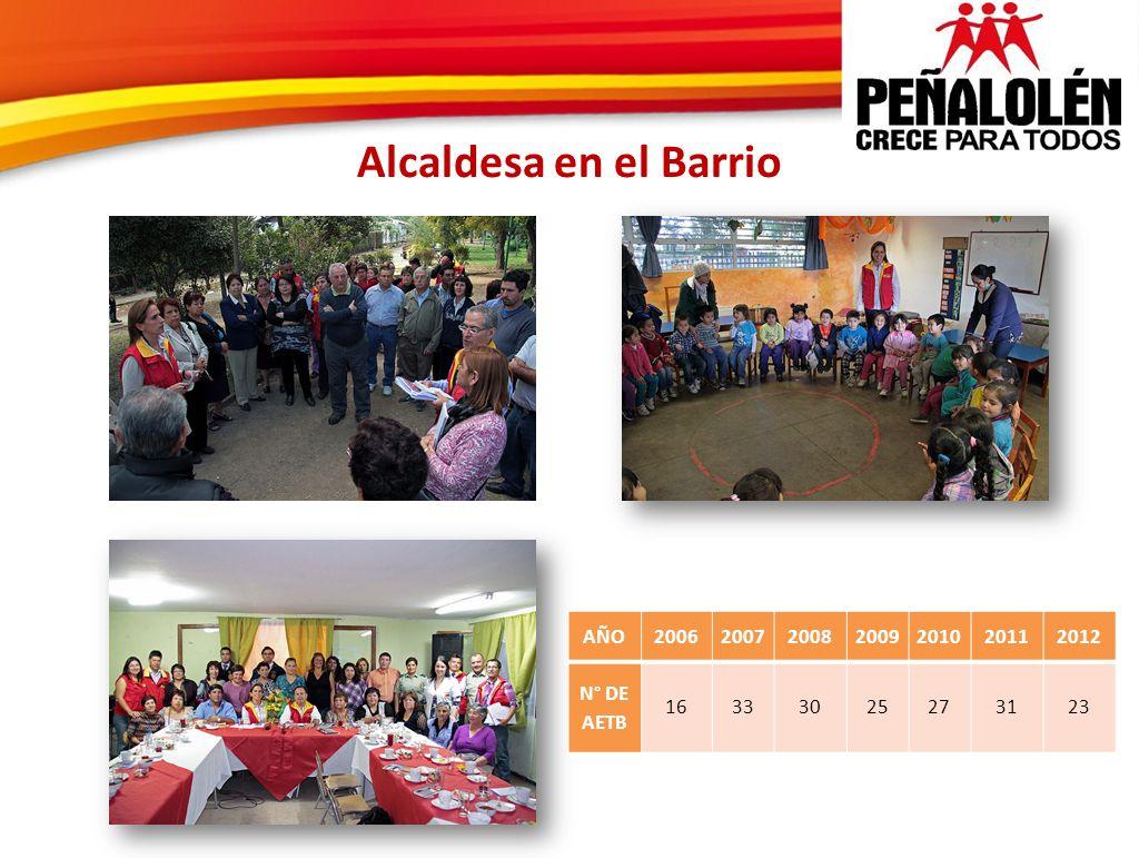 Alcaldesa en el Barrio AÑO2006200720082009201020112012 N° DE AETB 16333025273123