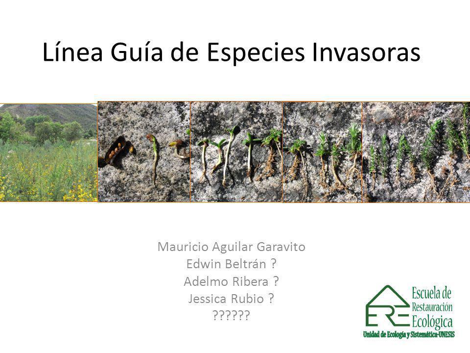 Línea Guía de Especies Invasoras Mauricio Aguilar Garavito Edwin Beltrán ? Adelmo Ribera ? Jessica Rubio ? ??????