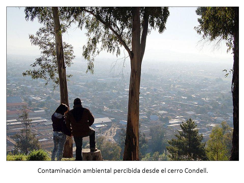 Contaminación ambiental percibida desde el cerro Condell.