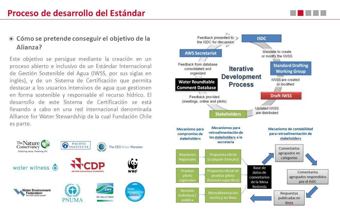 Proceso de desarrollo del Estándar Este objetivo se persigue mediante la creación en un proceso abierto e inclusivo de un Estándar Internacional de Ge