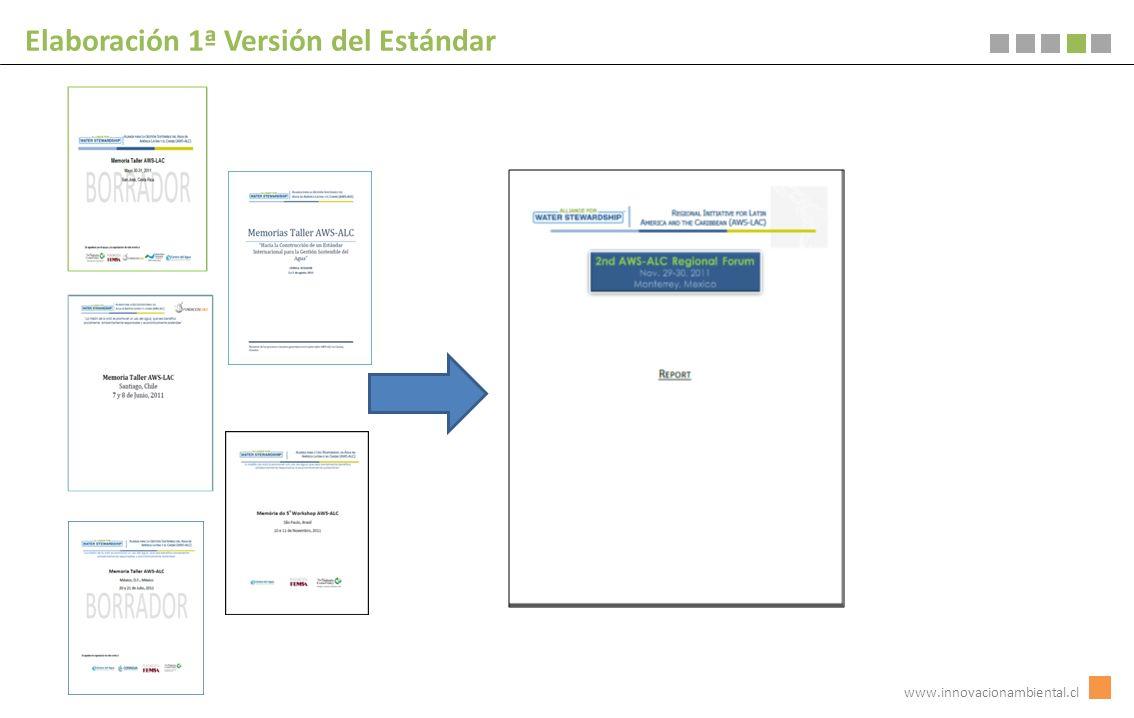 Elaboración 1ª Versión del Estándar www.innovacionambiental.cl