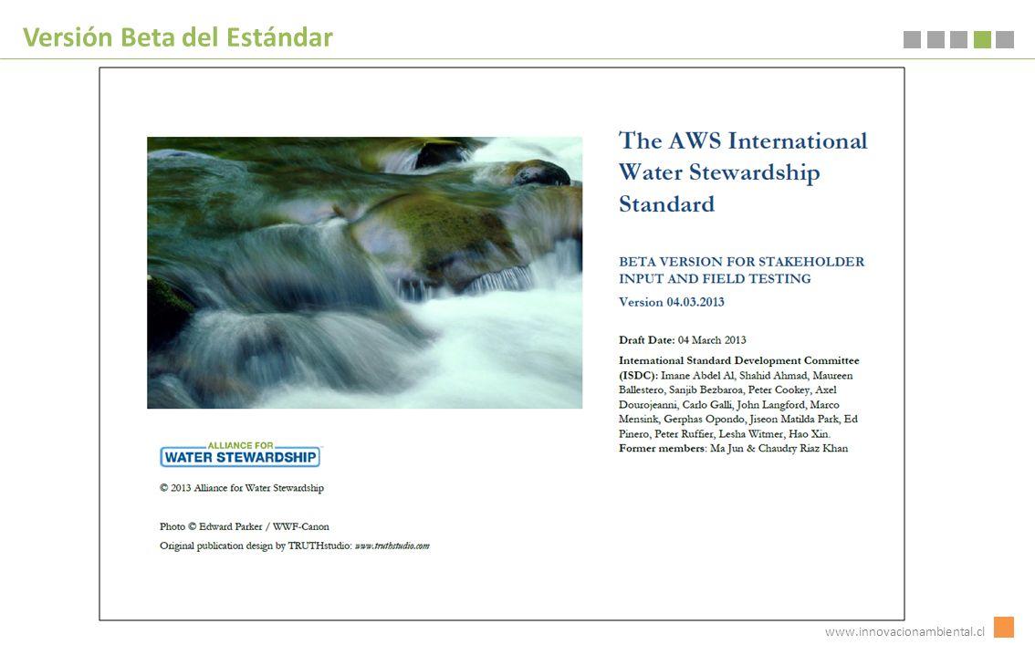 www.innovacionambiental.cl Versión Beta del Estándar
