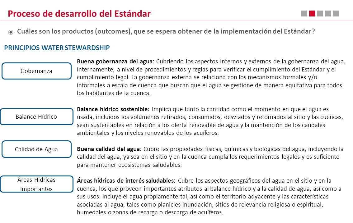 Buena gobernanza del agua: Cubriendo los aspectos internos y externos de la gobernanza del agua. Internamente, a nivel de procedimientos y reglas para