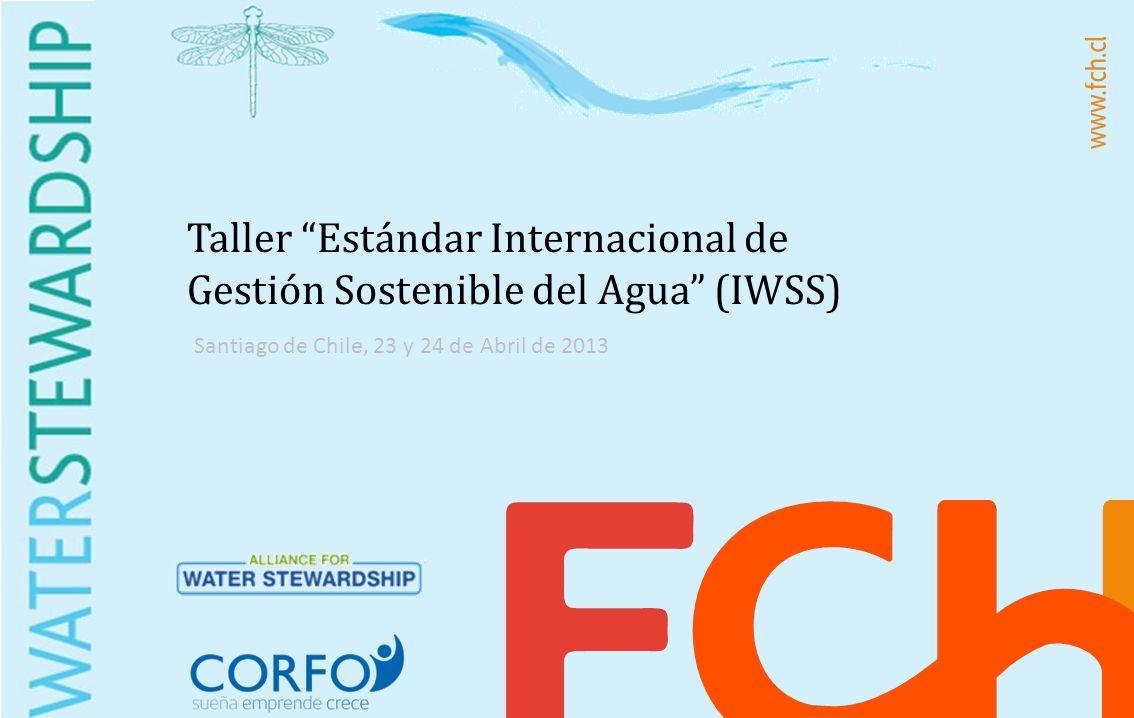 Taller Estándar Internacional de Gestión Sostenible del Agua (IWSS) Santiago de Chile, 23 y 24 de Abril de 2013