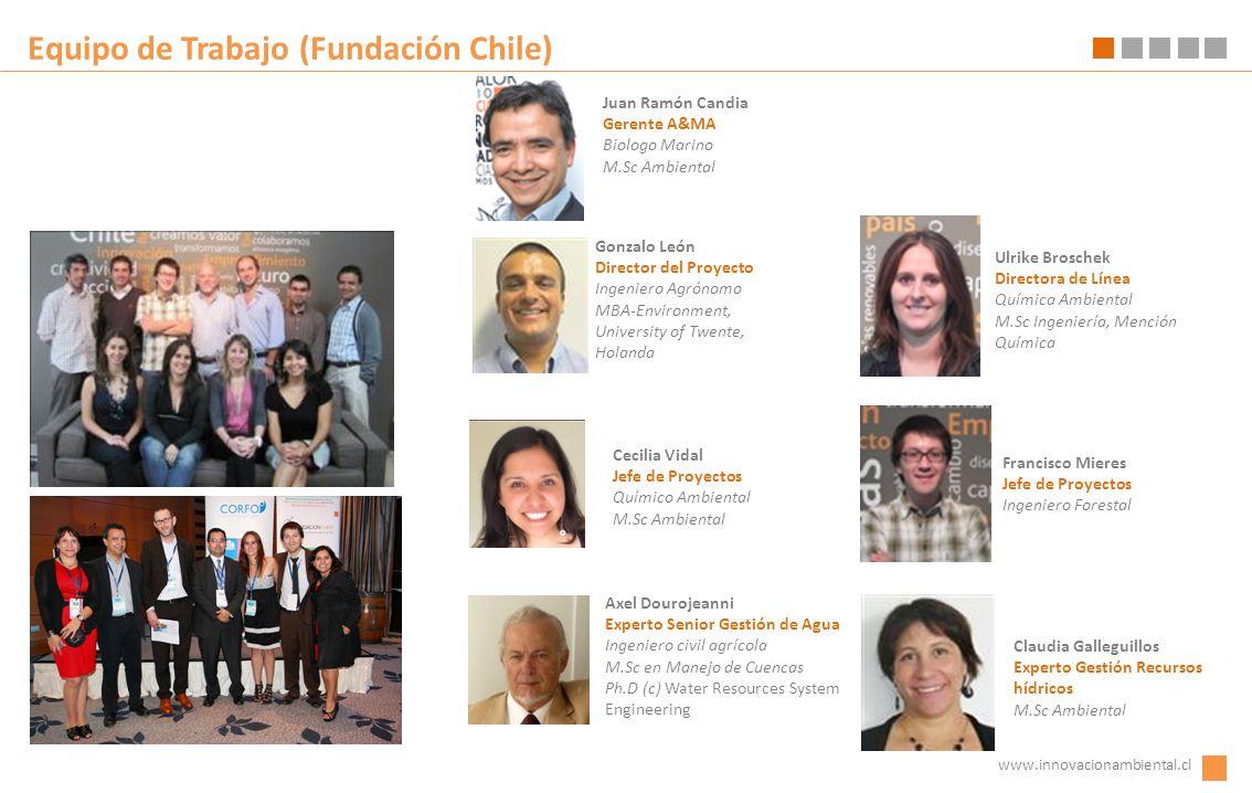 Equipo de Trabajo (Fundación Chile) Gonzalo León Director del Proyecto Ingeniero Agrónomo MBA-Environment, University of Twente, Holanda www.innovacio