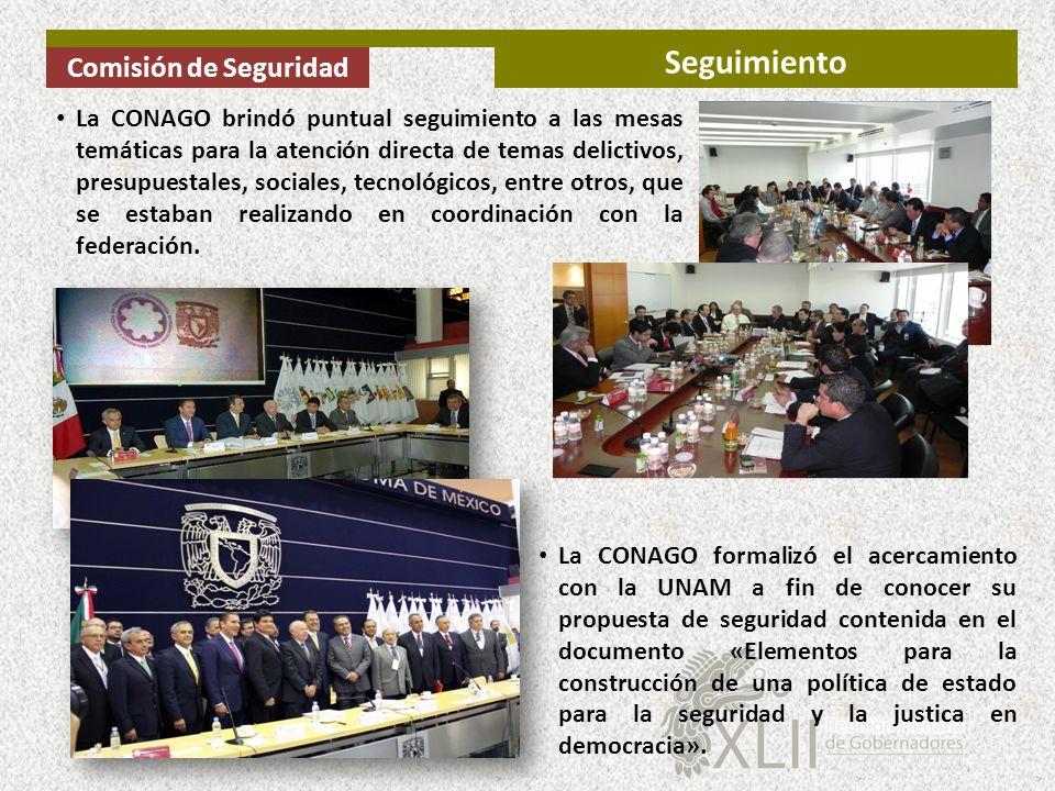 La CONAGO formalizó el acercamiento con la UNAM a fin de conocer su propuesta de seguridad contenida en el documento «Elementos para la construcción d