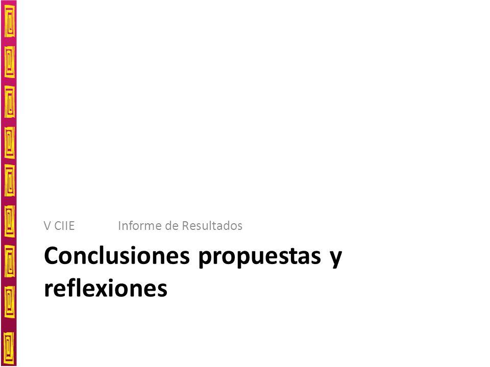 Conclusiones propuestas y reflexiones V CIIE Informe de Resultados